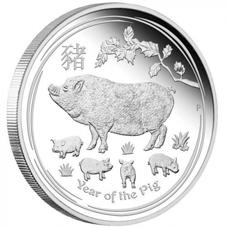Xu hình con lợn mạ bạc
