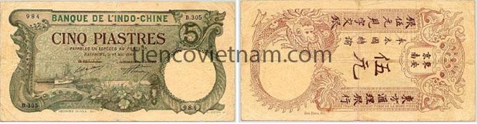 5 đồng thành thái Hải Phòng 1920